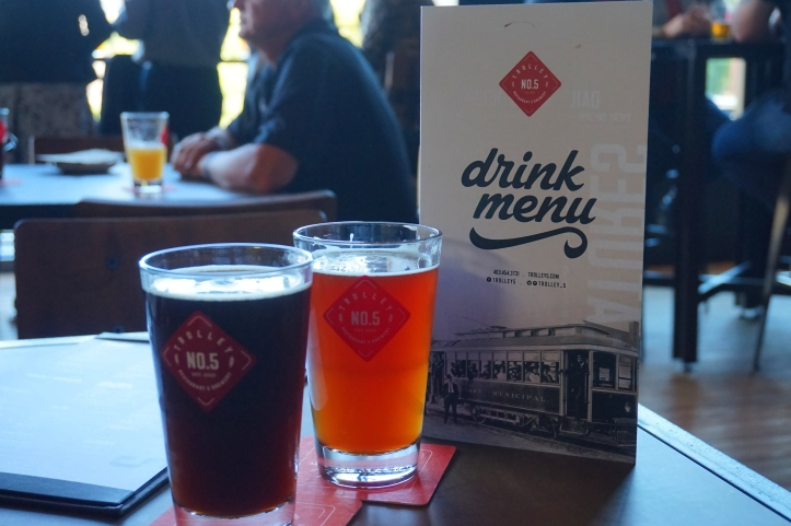 Trolley 5 Brewery Calgary beers and menu