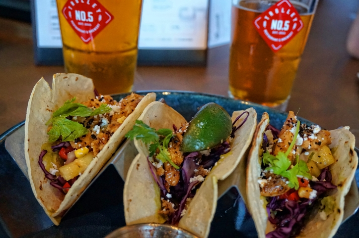Trolley 5 Brewery Calgary - fish tacos