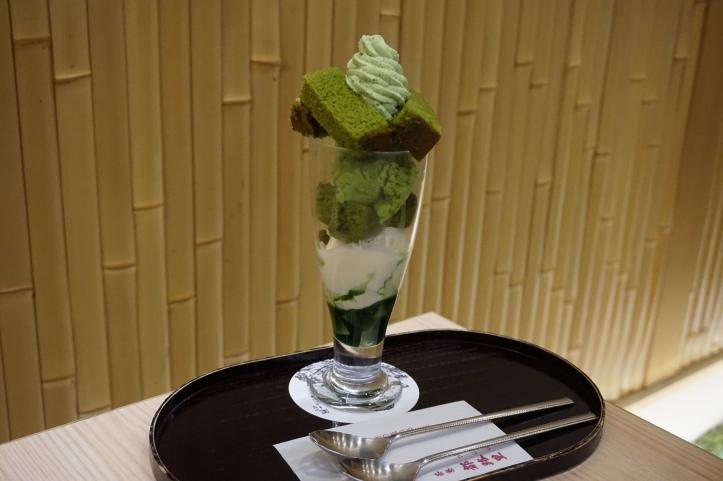Matcha ice cream sundae
