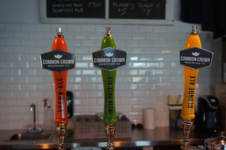 Common Crown Brewing Co. tap handles