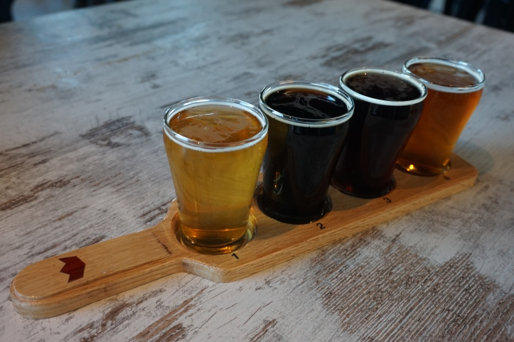 Common Crown Brewing Co. tasting paddle