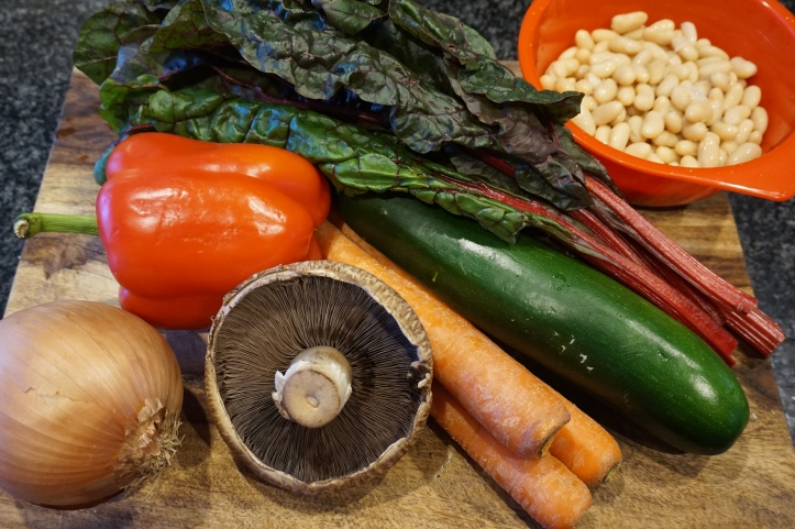 Fresh vegetables - minestrone ingredients