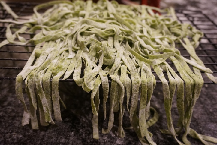 Spinach Fettuchini