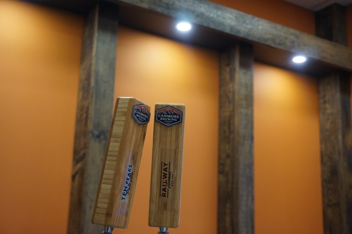 Canmore Brewing Company tap handles