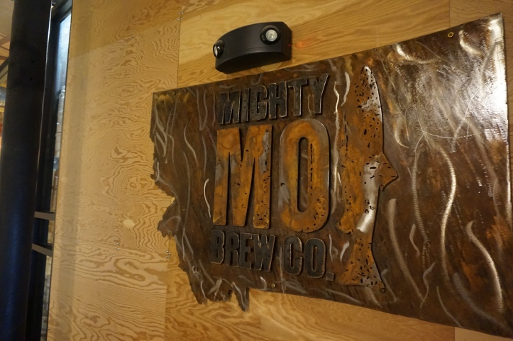 mighty mo brewing co sign