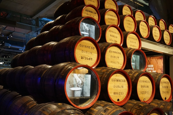 guinness storehouse - barrels