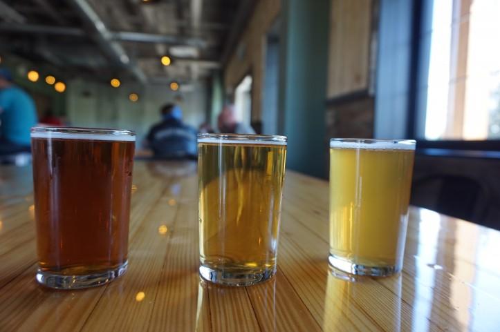 Hard Knox beer flight
