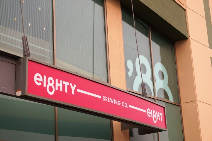 eighty eight brewing sign